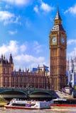Benen ben och Westminster bro Fotografering för Bildbyråer
