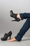 Benen en schoenen Stock Foto