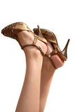 Benen in sandals Royalty-vrije Stock Fotografie