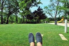 benen in schoenen stock foto's