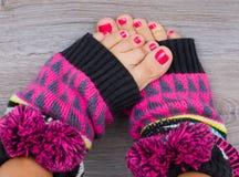 Benen in sokken Royalty-vrije Stock Afbeelding