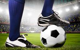 Benen van een voetballer stock afbeeldingen