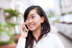 Benennen durch Telefon Lizenzfreies Stockbild