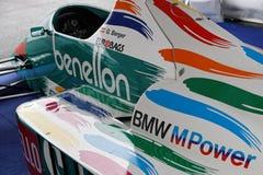 Benetton F1 i utställning Arkivbilder