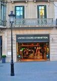 Benetton lager Fotografering för Bildbyråer