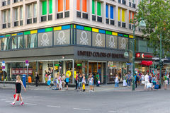 Benetton store on Kurfuerstendamm. BERLIN - JULY 24: Benetton store on Kurfuerstendamm. Benetton is a global fashion brand and has a network of over 6,500 stores Royalty Free Stock Photography