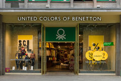 Benetton store on Kurfuerstendamm. BERLIN - JULY 24: Benetton store on Kurfuerstendamm. Benetton is a global fashion brand and has a network of over 6,500 stores Stock Photography