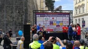 Benevento - assegnazione dello Strabenevento stock footage
