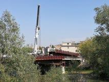 Benevento- - AutogrÃ-¹ auf dem Santa Maria-degli Angeli Bridge Lizenzfreies Stockfoto