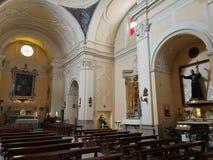 Benevento - Binnenland van de kerk van Sant ?Anna stock foto's