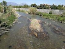 Benevento - Blick des Flusses Samstag Stockfotografie