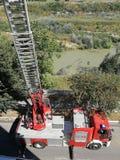 Benevento - brandman Staircase Arkivbild