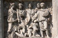Benevento (Campania, Italia): Arco di Traiano Fotografia Stock