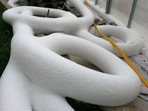 Frozen tubes Stock Image