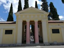 Benevento - Cemetary entrance stock images