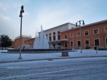 Benevento - centralstation med snö Royaltyfria Bilder