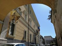 Benevento - cidade Hall View foto de stock