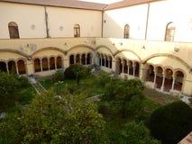 Benevento - convento di Santa Sofia immagini stock libere da diritti