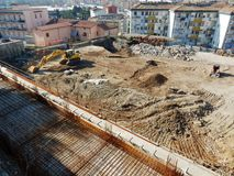 Benevento - Excavations with findings Stock Photos