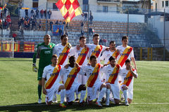 Benevento football team. The benevento football team before the match sorrento-benevento.febrary 2012 royalty free stock photos