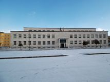 Benevento - High School with snow Royalty Free Stock Photo