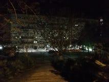 Benevento - Ingangstrap aan het Burgerlijke Ziekenhuis bij nacht royalty-vrije stock afbeelding
