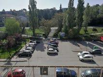 Benevento - Panorama van de derde verdieping van het Burgerlijke Ziekenhuis royalty-vrije stock fotografie