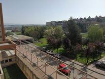Benevento - Panorama van de derde verdieping van het Burgerlijke Ziekenhuis royalty-vrije stock afbeelding