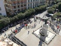 Benevento - piazzadropp Novembre från den Rocca deien Rettori royaltyfri fotografi