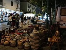Benevento - Stalls at the Sacred Heart Festival Royalty Free Stock Images