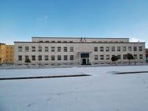 Benevento - szkoła średnia z śniegiem Zdjęcie Royalty Free
