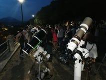 Benevento - telescopios en la ciudad foto de archivo
