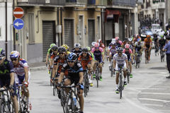 Benevento, 17th may 2015  - giro d'italia 2015 car with bicycles reserve Royalty Free Stock Image