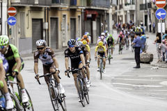 Benevento, 17th may 2015  - giro d'italia 2015 cyclist on bike race Stock Photos