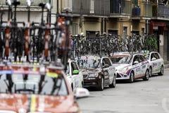 Benevento, 17th may 2015  - giro d'italia 2015 cyclist on bike race Stock Photo