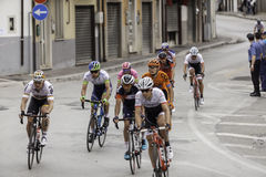 Benevento, 17th may 2015  - giro d'italia 2015 cyclist on bike race Royalty Free Stock Image