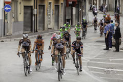 Benevento, 17th may 2015  - giro d'italia 2015 cyclist on bike race Royalty Free Stock Photo