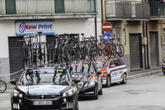 Benevento, 17th may 2015  - giro d'italia 2015 cyclist on bike race Royalty Free Stock Photography