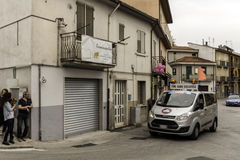Benevento, 17th may 2015  - giro d'italia 2015 fine gara truck Royalty Free Stock Images