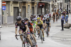 Benevento, 17th may 2015 - giro d'italia 2015 follower group. Giro d'italia 2015 : cyclist on bike race royalty free stock photos