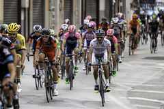 Benevento, 17th may 2015  - giro d'italia 2015 leader group Royalty Free Stock Photos
