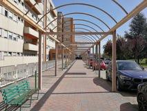 Benevento - Toegang tot San Pio Pavilion van het Burgerlijke Ziekenhuis royalty-vrije stock afbeelding