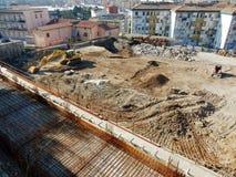 Benevento - utgrävningar med rön Arkivfoton