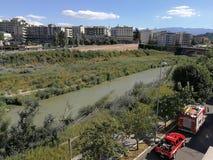 Benevento - vigili del fuoco al salvataggio immagine stock libera da diritti