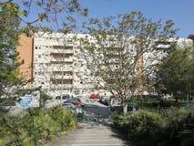 Benevento - Voettoegang tot het Burgerlijke Ziekenhuis royalty-vrije stock fotografie