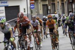 Benevento, zeventiende kan 2015 - de fietser van girod'italia 2015 op fietsras Royalty-vrije Stock Foto's