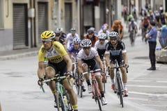 Benevento, zeventiende kan 2015 - de fietser van girod'italia 2015 op fietsras Royalty-vrije Stock Afbeelding