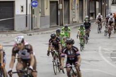Benevento, zeventiende kan 2015 - de fietser van girod'italia 2015 op fietsras Royalty-vrije Stock Afbeeldingen