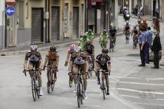Benevento, zeventiende kan 2015 - de fietser van girod'italia 2015 op fietsras Royalty-vrije Stock Foto