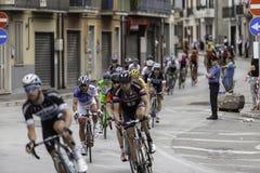 Benevento, zeventiende kan 2015 - de fietser van girod'italia 2015 op fietsras Stock Afbeeldingen